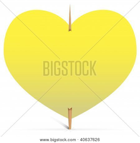 Heart Note Paper