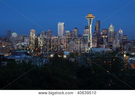 Seattle Skyline Dusk