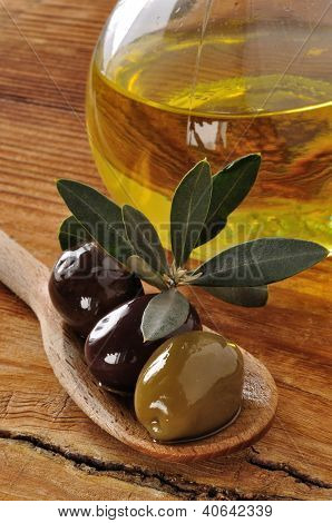 Olives And Extra Virgin Olive Oil