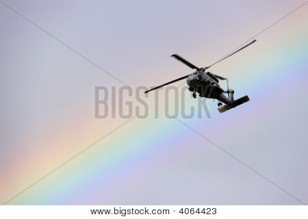 Helicopter And Rainbow
