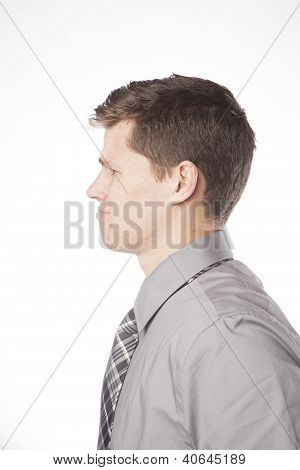 Business Man Profile Confused