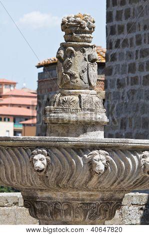 Papal Palace. Viterbo. Lazio. Italy.