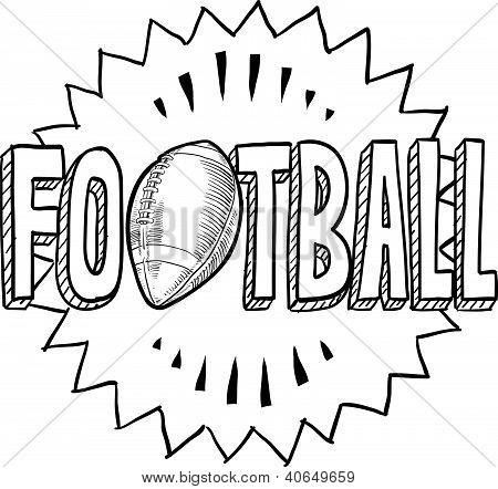 American football sketch