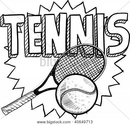 Bosquejo de deportes tenis