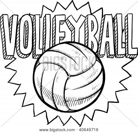 Volleyball sports sketch
