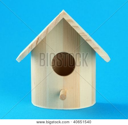 Nesting box on color background