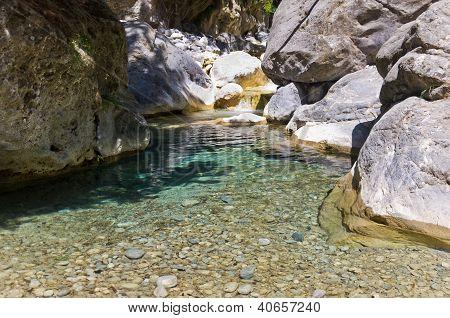 Mountain creek thru Samaria gorge