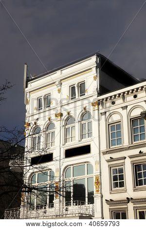 Exterior Facade Of An Elegant White Building