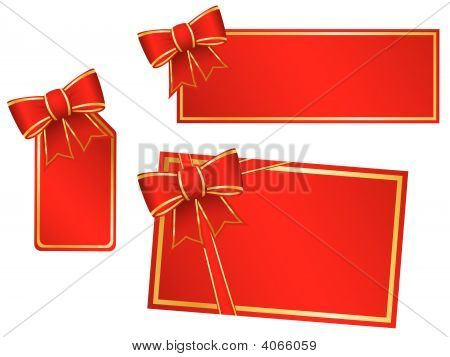 Christmas Bows And Gift Cards