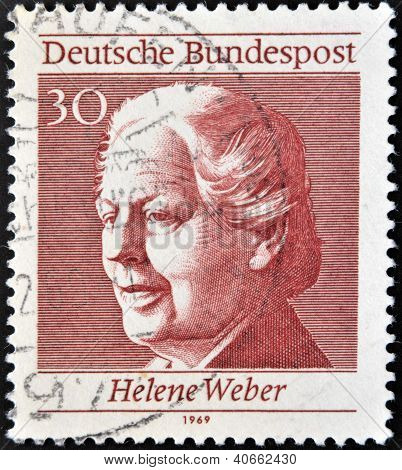 GERMANY - CIRCA 1969: A stamp printed in Germany shows Helene Weber circa 1969
