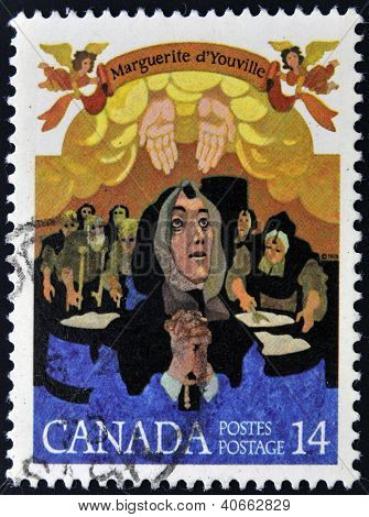 CANADA - CIRCA 1978: stamp printed Canada shows Mere Youville circa 1978