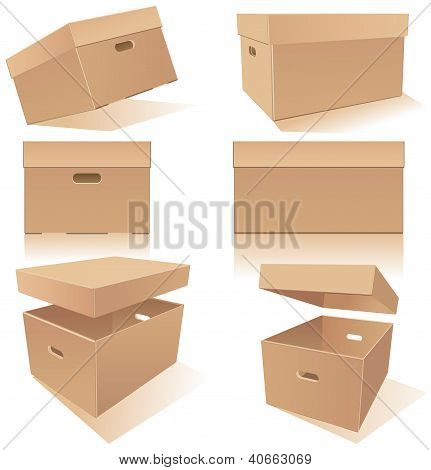 Boxes With Handles And Lids
