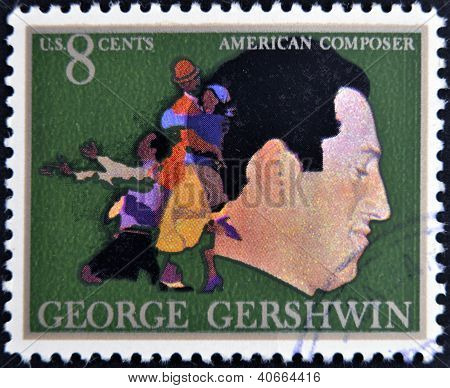 UNITED STATES OF AMERICA - CIRCA 1973: A stamp printed in USA shows the great American classical and