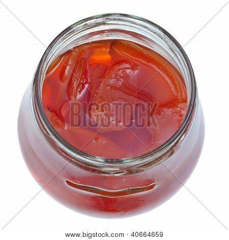 Sweet Quince Jam In Glass Jar
