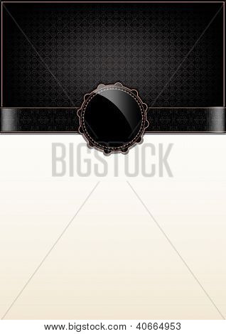 Black Abstract Vintage Card And Badge