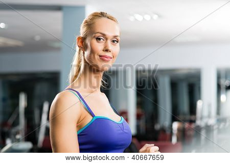 portrait of a girl in a sports club