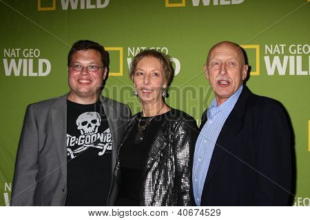 LOS ANGELES - JAN 3:  Charles Pol; Diane Pol; Dr. Jan Pol arrives at the National Geographic Channels'