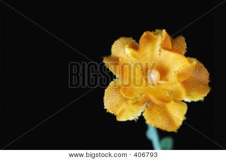 Flor de seda laranja