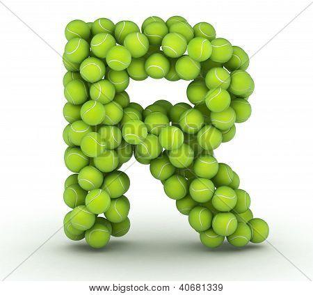 Letter R, Tennis Balls Alphabet