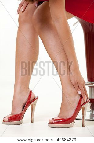 Womans red shoes