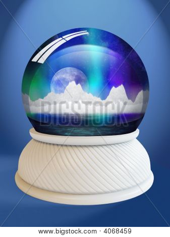 Snow Globe With Clipping Path