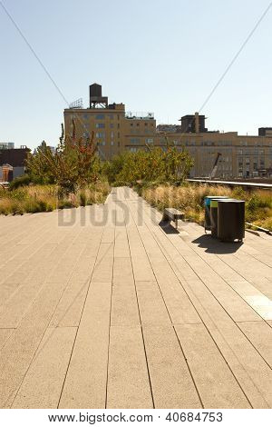 High Line Park In Chelsea, New York