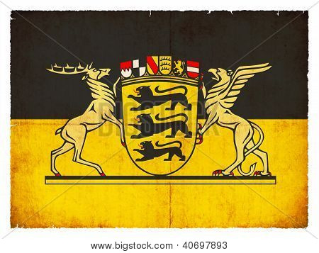 Grunge Flag Of Baden-wuerttemberg (germany)