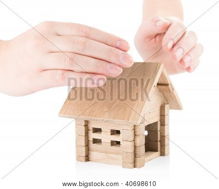 Insurance of real estate concept