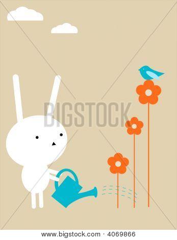 Bunny Gardening.