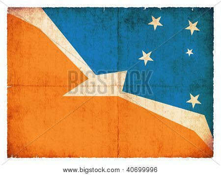 Grunge Flag Of Tierra Del Fuego (argentina)