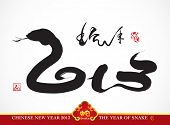 picture of chinese new year 2013  - Snake Calligraphy - JPG
