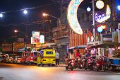 PATONG, THAILAND - NOV 10:  Unidentified people on the street of Patong at night. This neighborhood