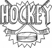Hockey sports sketch