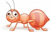 picture of animated cartoon  - Vector illustration of Funny red ant cartoon character - JPG