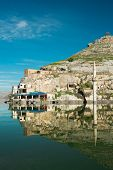 pic of euphrates river  - Sunken village Halfeti in Gaziantep Turkey - JPG