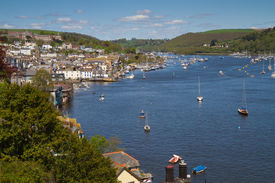 picture of dartmouth  - Dartmouth the historic and popular tourist town in Devon  England - JPG