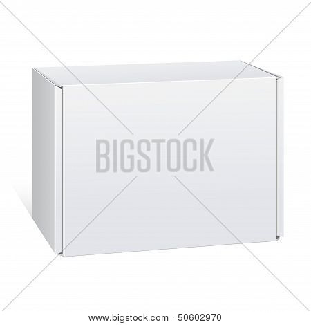 Realistic White Package Box. For Software, electronic device. Vector