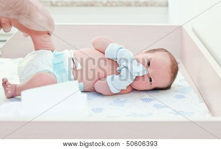 Newborn Baby In Maternity Hospital