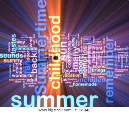 Summer Wordcloud Glowing