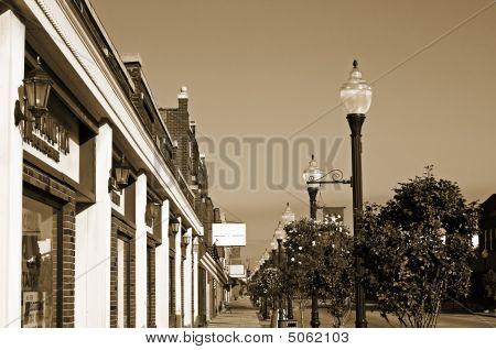Vintage Small-town Sidewalk