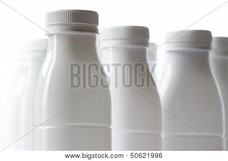 White Milk Bottles