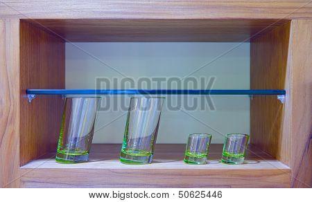 Oblique Glasses In Glass Case