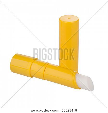 Lip balm isolated on white