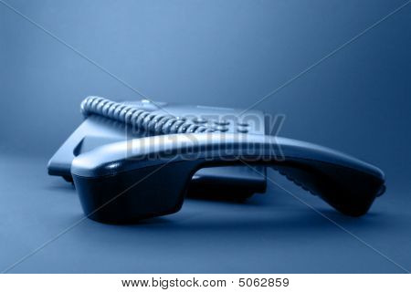 Black Office Phone Handset
