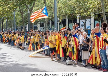 Via Catalana Also Known As Catalan Road To Independence
