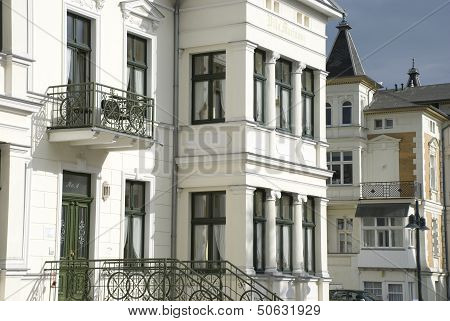 historic ressort architecture on rügen, germany