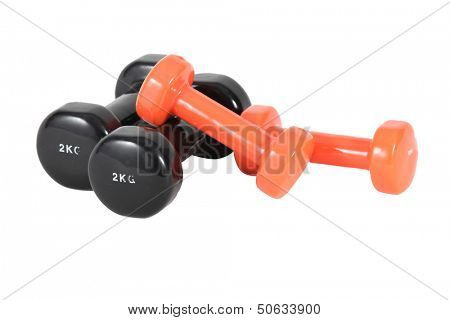 Two sets of gym weights