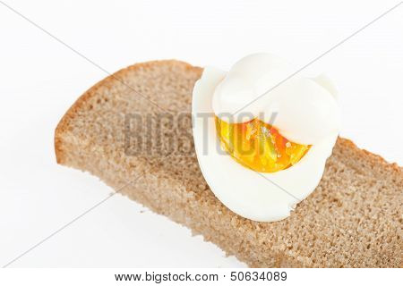 Egg On Slice Of Bread