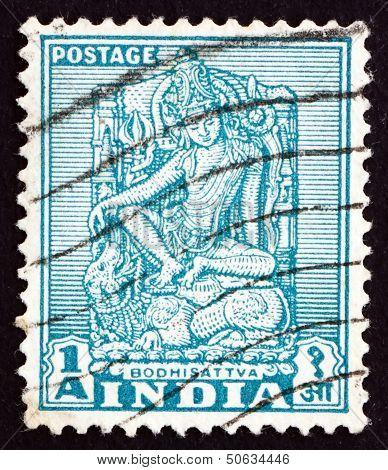Postage Stamp India 1950 Bodhisattva, Enlightenment Being