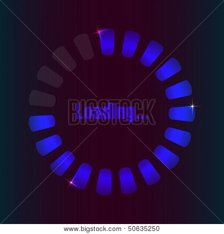 Blue Loading Bar With Special Plasma Design